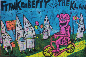 Frankenberry Vs the Klan classic woodcut