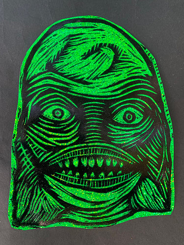Creature Head Glitter Sticker