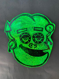 Frankenberry Glitter Sticker