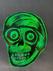 Numb Skull Glitter Sticker