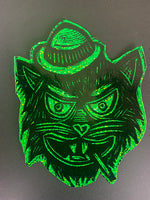 Tough Cat Glitter Sticker