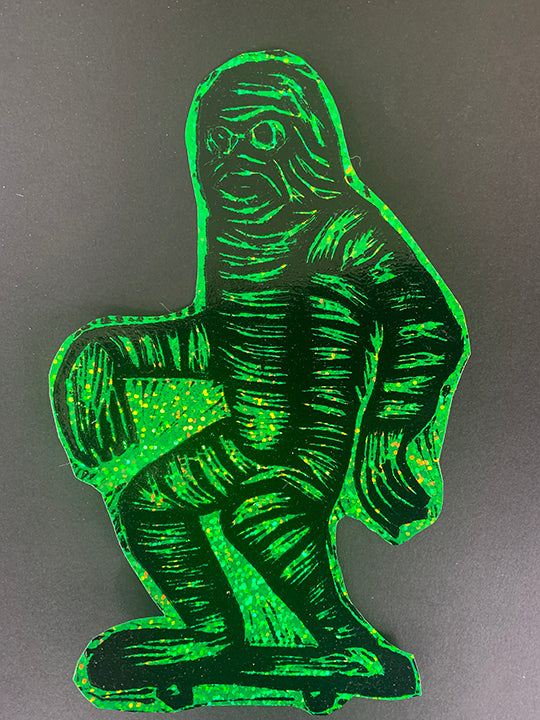 Skating Creature Glitter Sticker