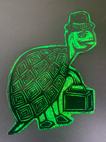 Top Hat Turtle Glitter Sticker