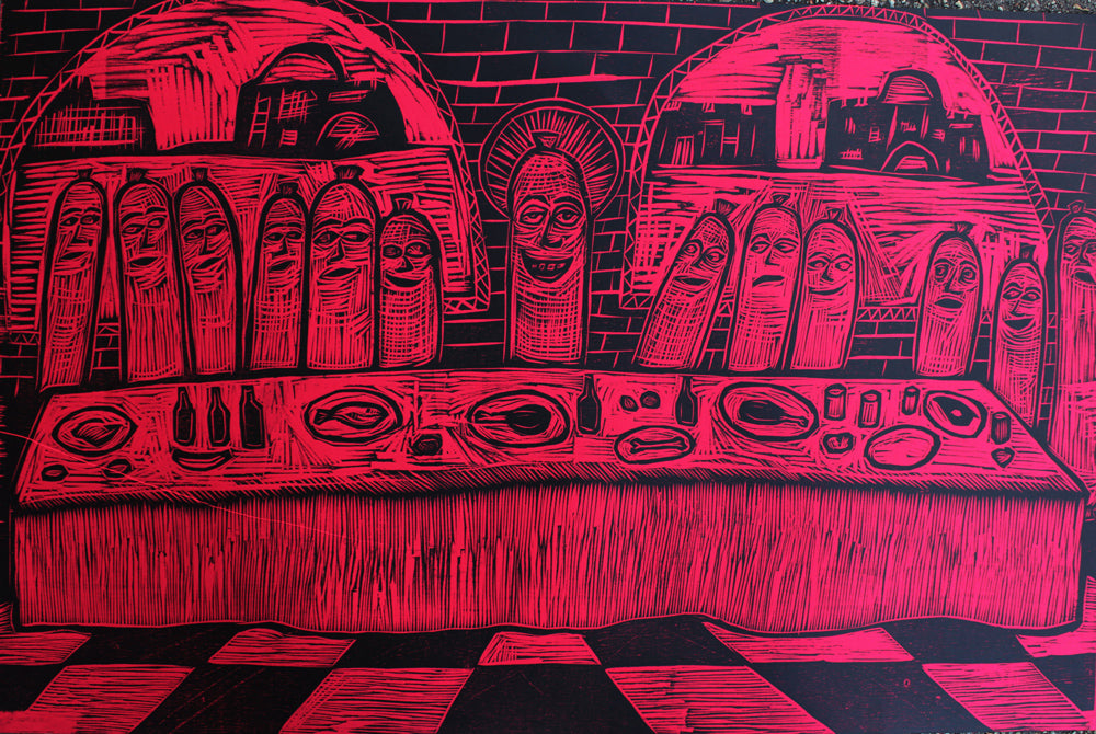 Last Supper Woodcut