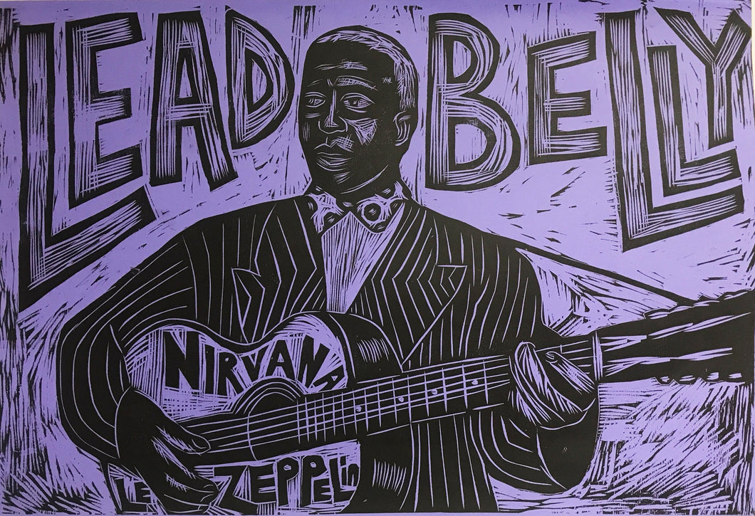 Leadbelly Woodcut