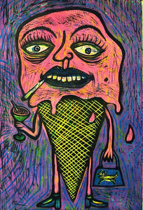 Meltdown Color Woodcut