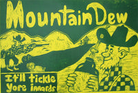 Mountain Dew Hillybilly Woodcut