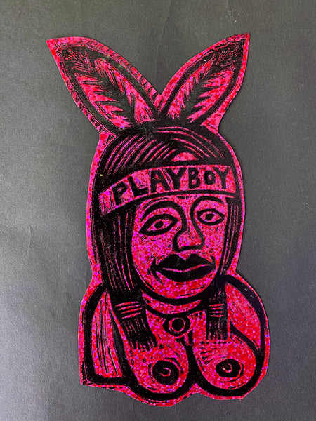 Playboy Glitter Sticker