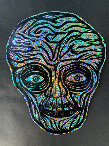 Alien Glitter Sticker
