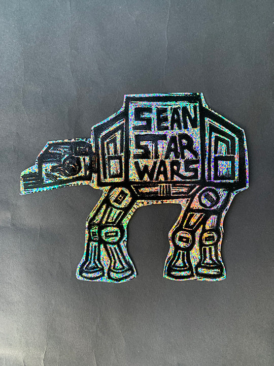 AT-AT Glitter Sticker