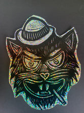 Load image into Gallery viewer, Tough Cat Glitter Sticker