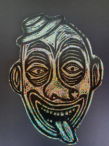 Clown Glitter Sticker
