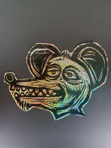 Rat  Glitter Sticker