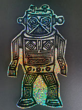 Load image into Gallery viewer, Robot Glitter Sticker