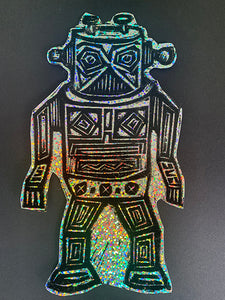 Robot Glitter Sticker