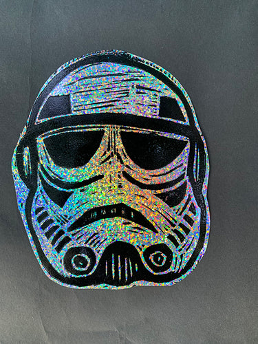 Stormtrooper Glitter Sticker
