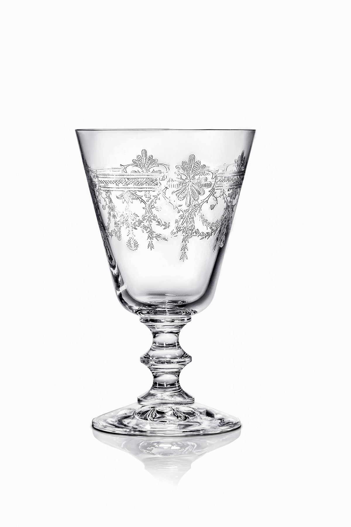 Victorian Rustic Wine Glasses - Set of 6