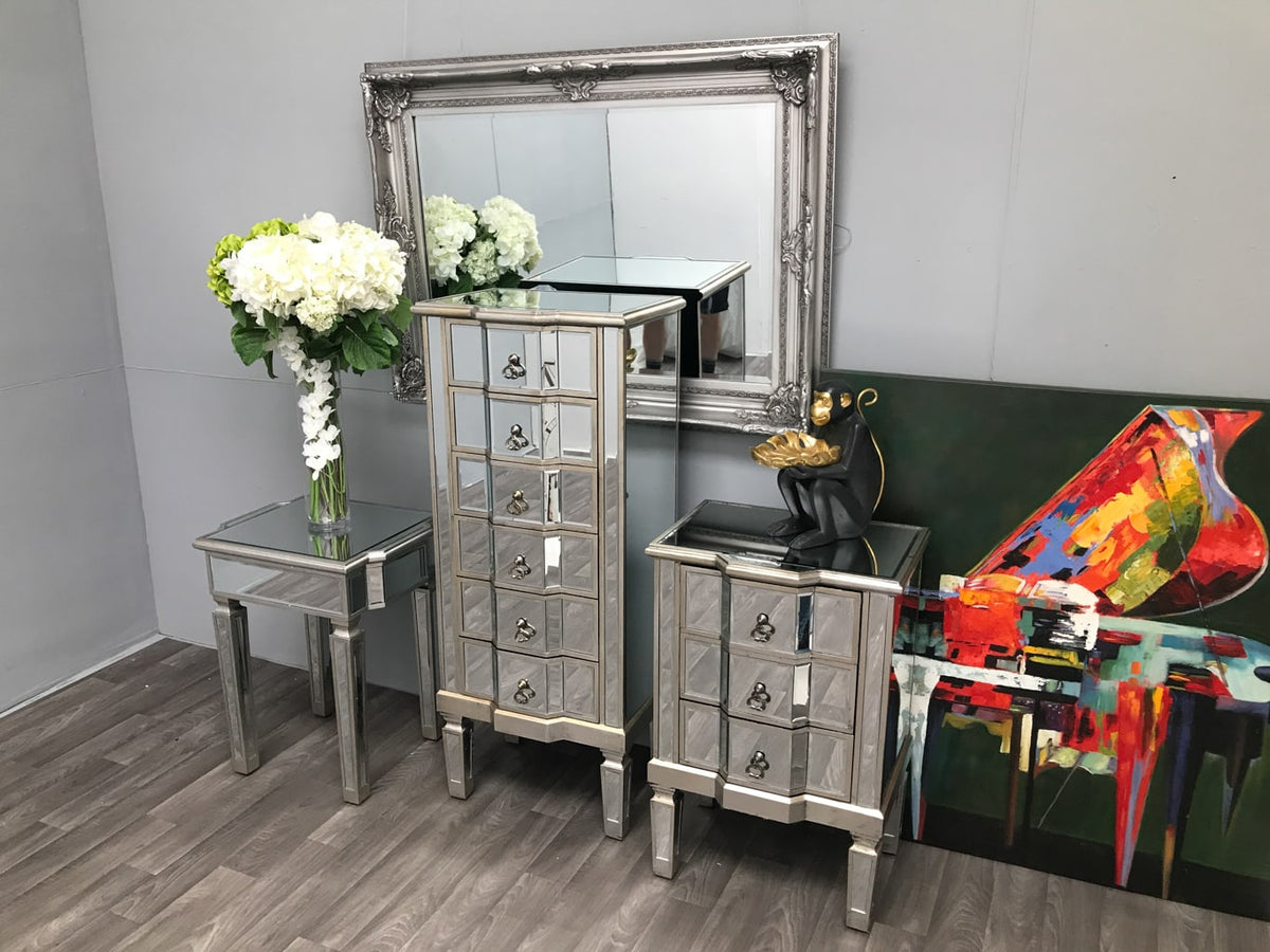 Mirrored Tallboy Chest of 6 Drawers » Shop