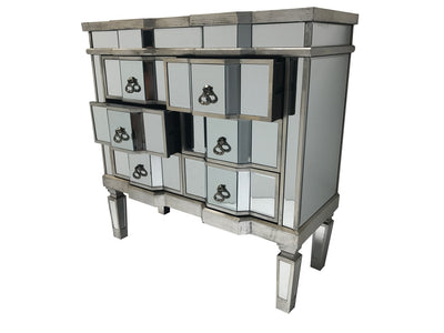 Mirrored Chest of six drawers