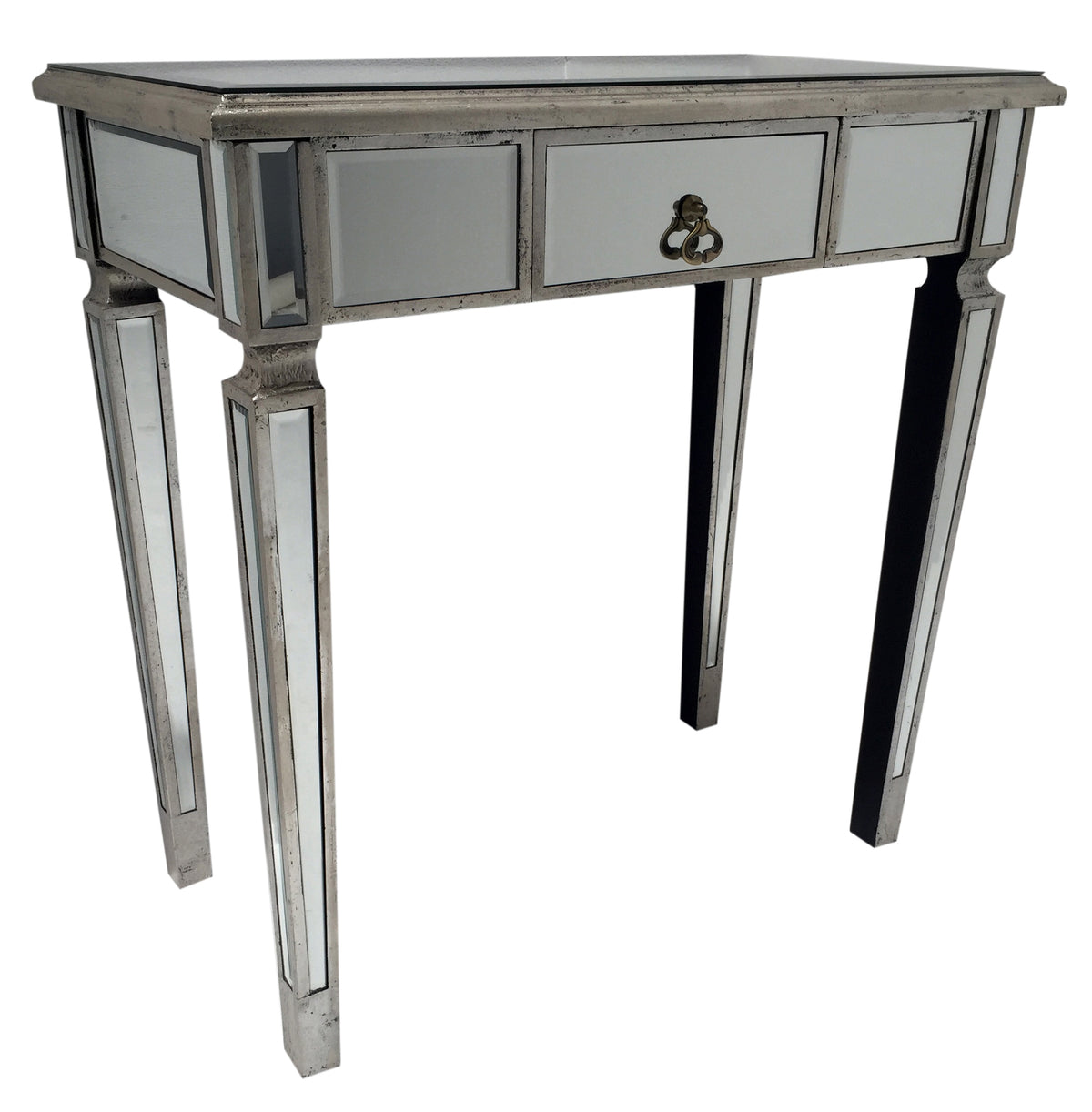 Silver Mirrored Console Table » One drawer