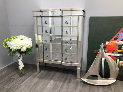 Mirrored Chest of Drawers - Charleston Collection