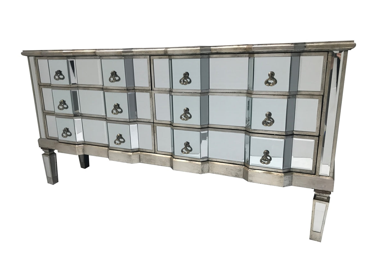 Charleston mirrored chest with six drawers