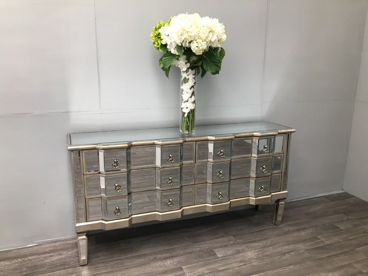 Mirrored Chest of Six Drawers - Charleston Collection