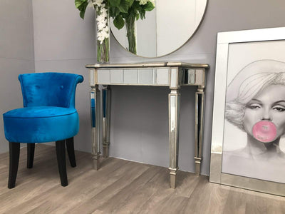 Slim Mirrored Side Table - Marbella Collection