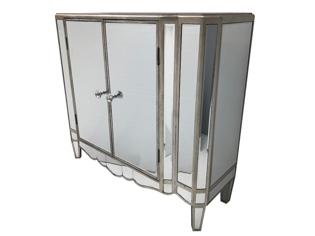 Hollywood Mirrored Sideboard with 1 Cupboard
