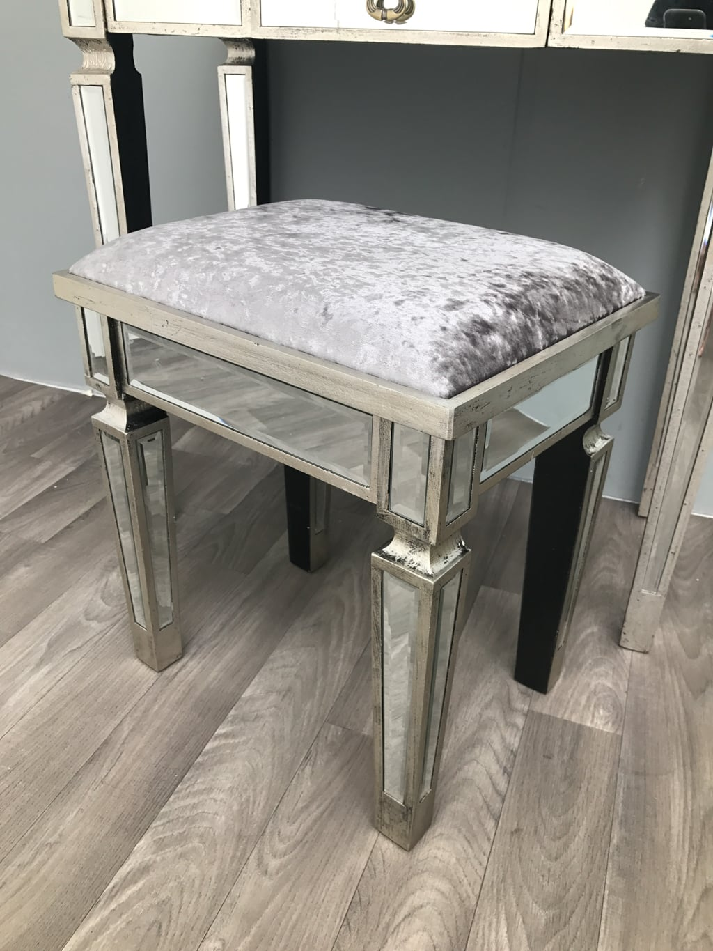 Mirrored Stool for Vanity Dressing Table