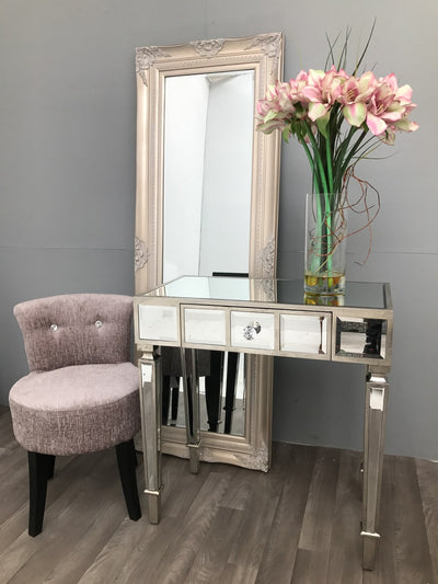Mirrored Console Table With Single Drawer - Modern Finish Hollywood