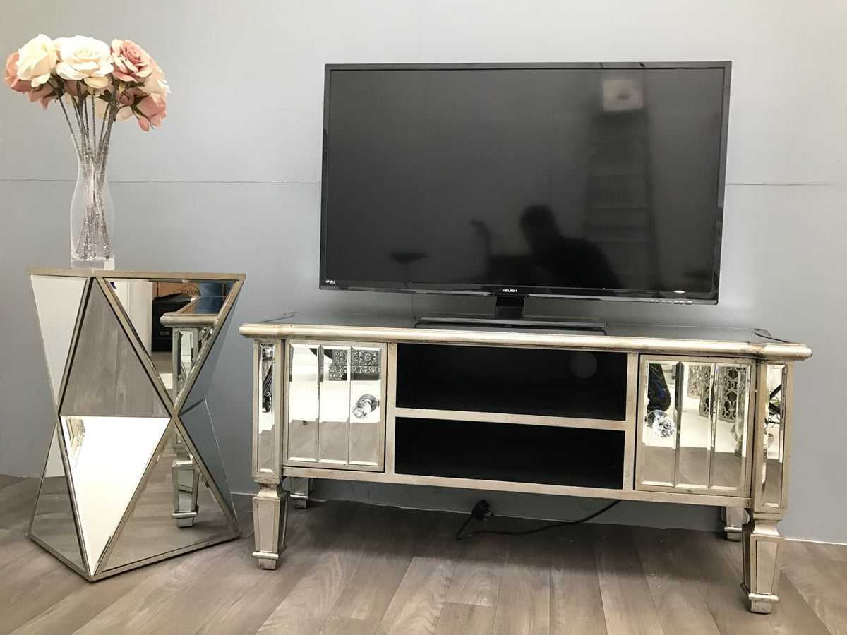 Marbella Media Unit for TV with 2 Shelves and 2 Drawers
