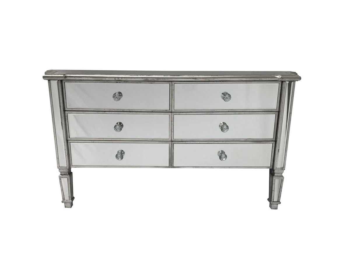 Mirrored Sideboard With 6 Drawers