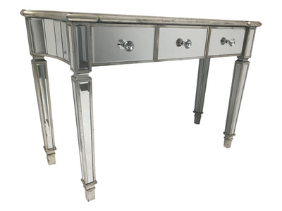Mirrored Console Table With 3 Drawers - Marbella Collection