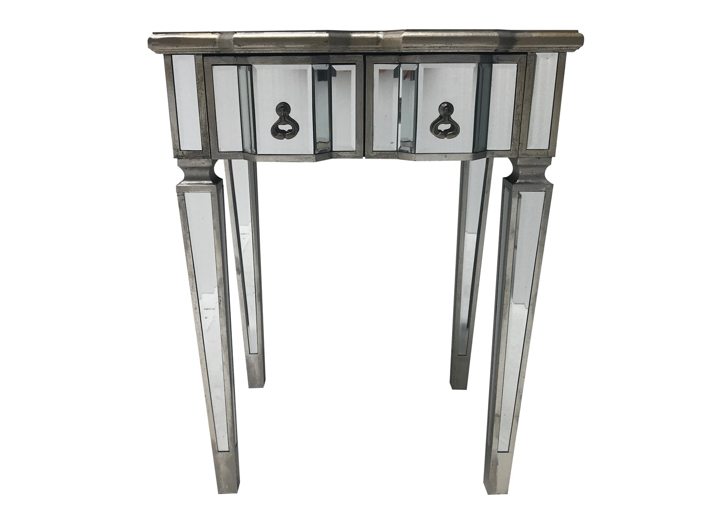Charleston Console Table with Two Drawers and Unique Handles