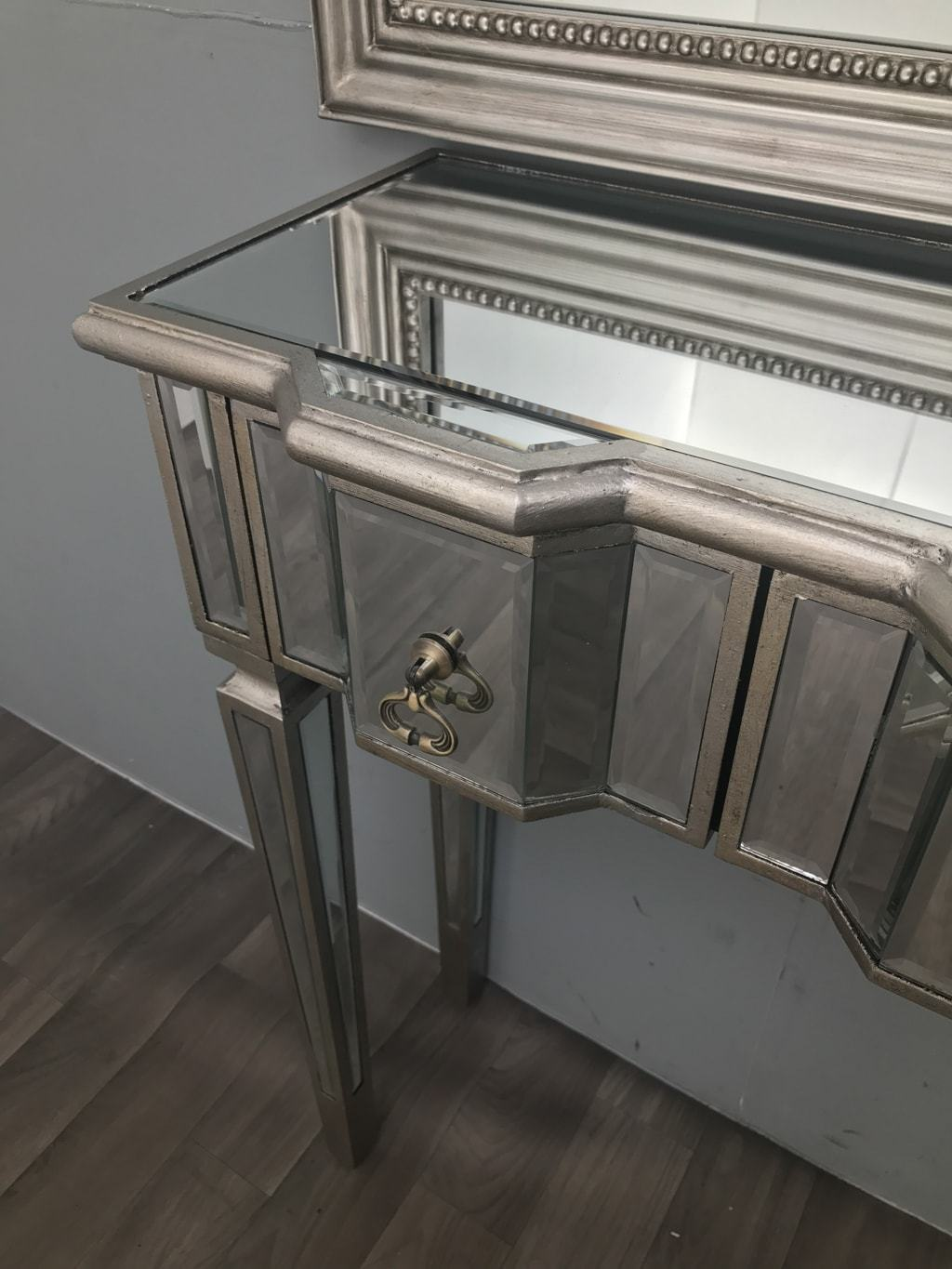 Mirrored Side Table with Two Drawers - Charleston Collection