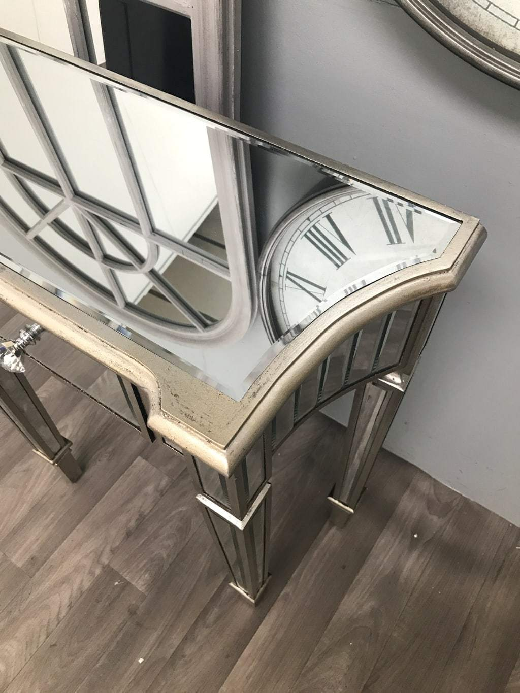 Mirrored End Table with 1 Drawer - Marbella Collection