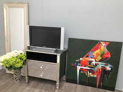 Marbella TV Unit with 2 Drawers and 1 Shelf
