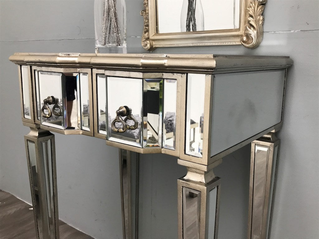 Small Mirrored Dressing Table with two drawers
