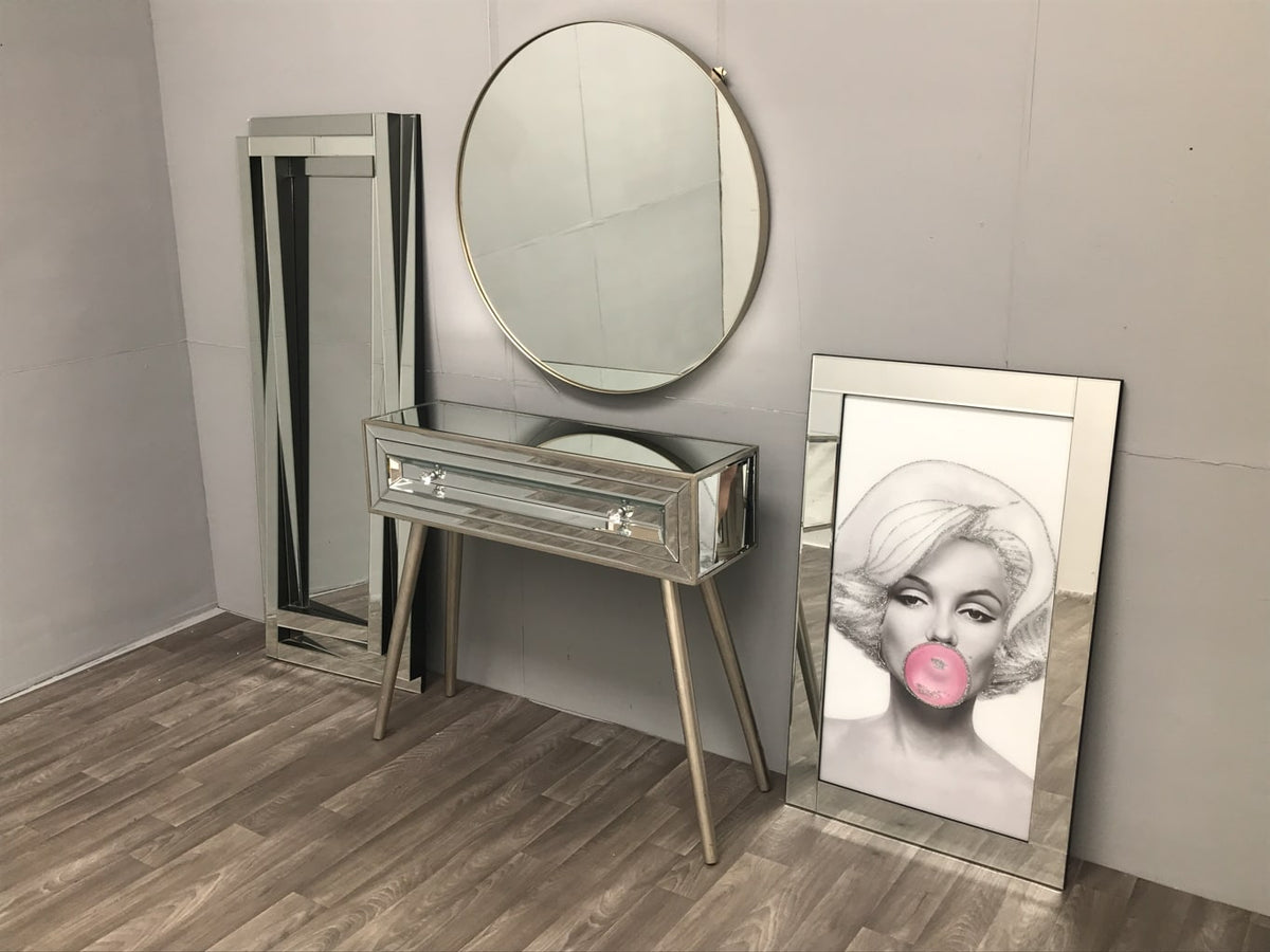 Hollywood Console Table with two handles
