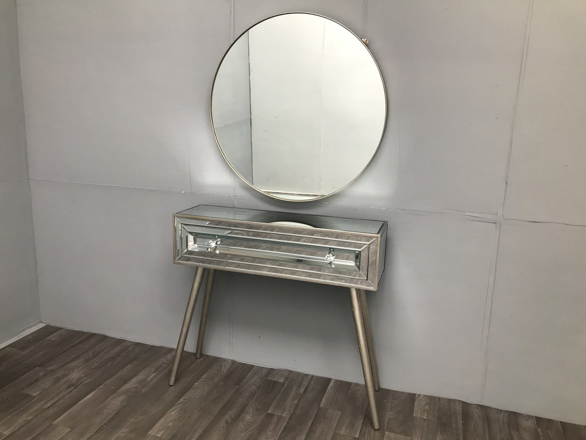 Mirrored Dressing Table with 1 large drawer - Hollywood Collection