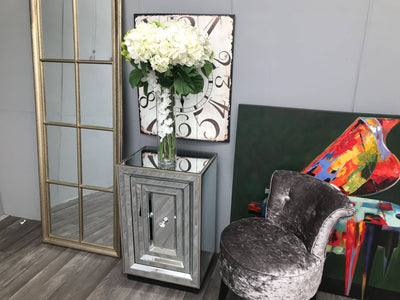 Hollywood Cupboard - Mirrored Bedside Table