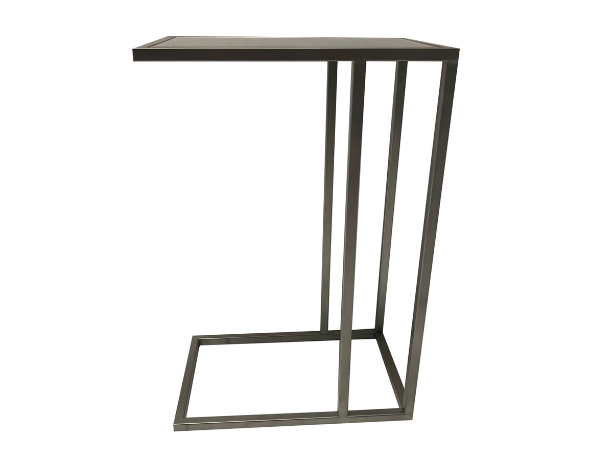 Sofa Table in Silver Colour Finish with Mirrored Top