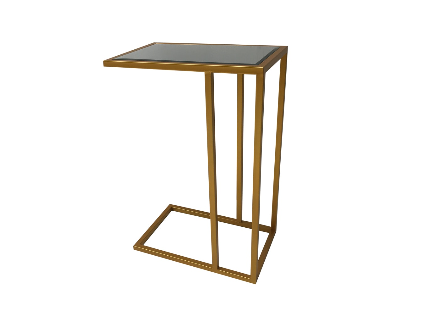 Side Table in Antiqued Gold Finish
