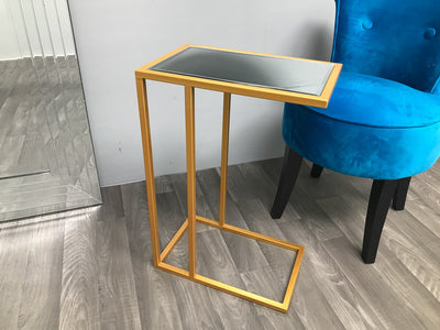 Sofa Side Table in Golden Colour Finish