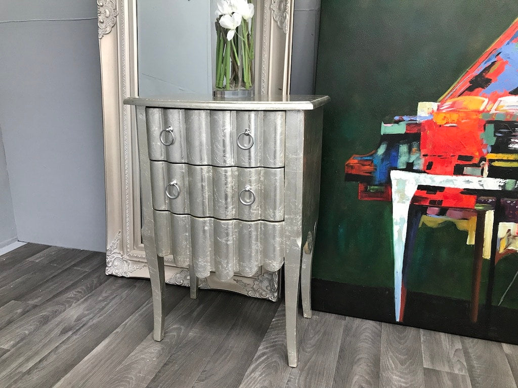 Silver Chest Of 2 Drawers » French Leaf