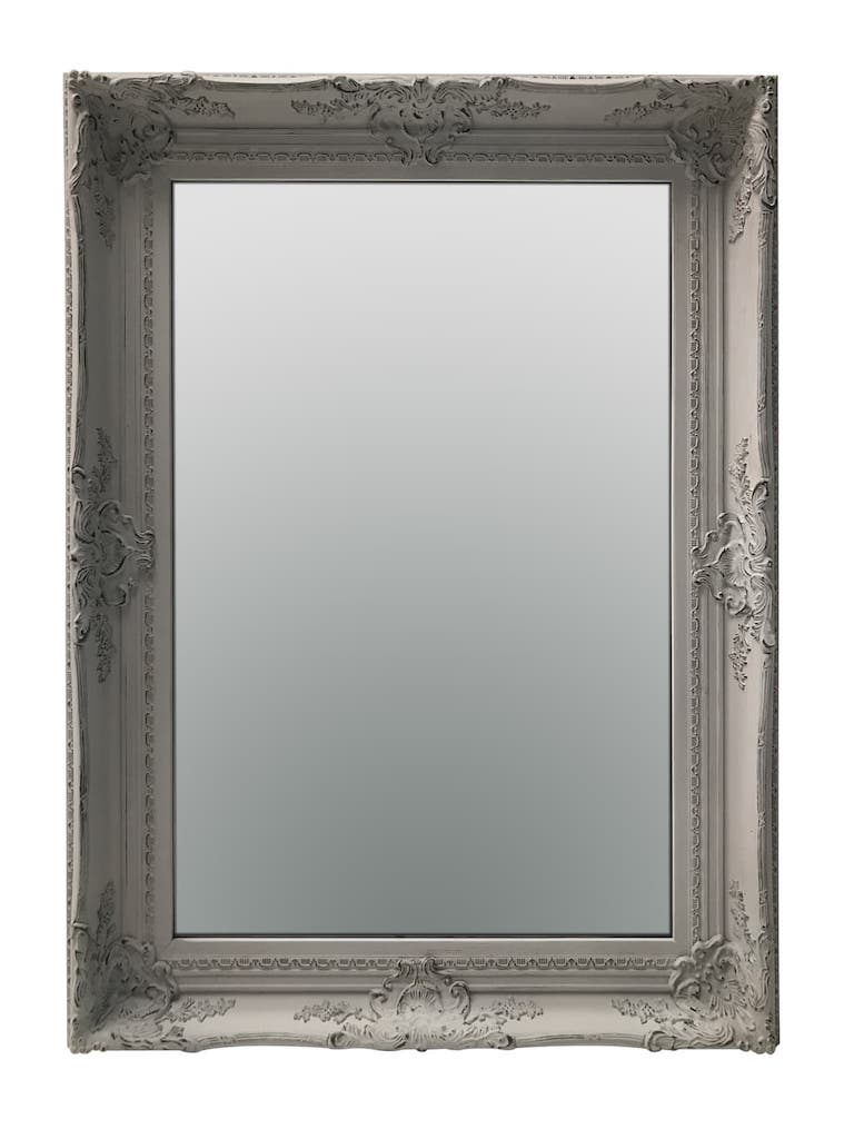 Swept Frame Mirror in Grey Colour