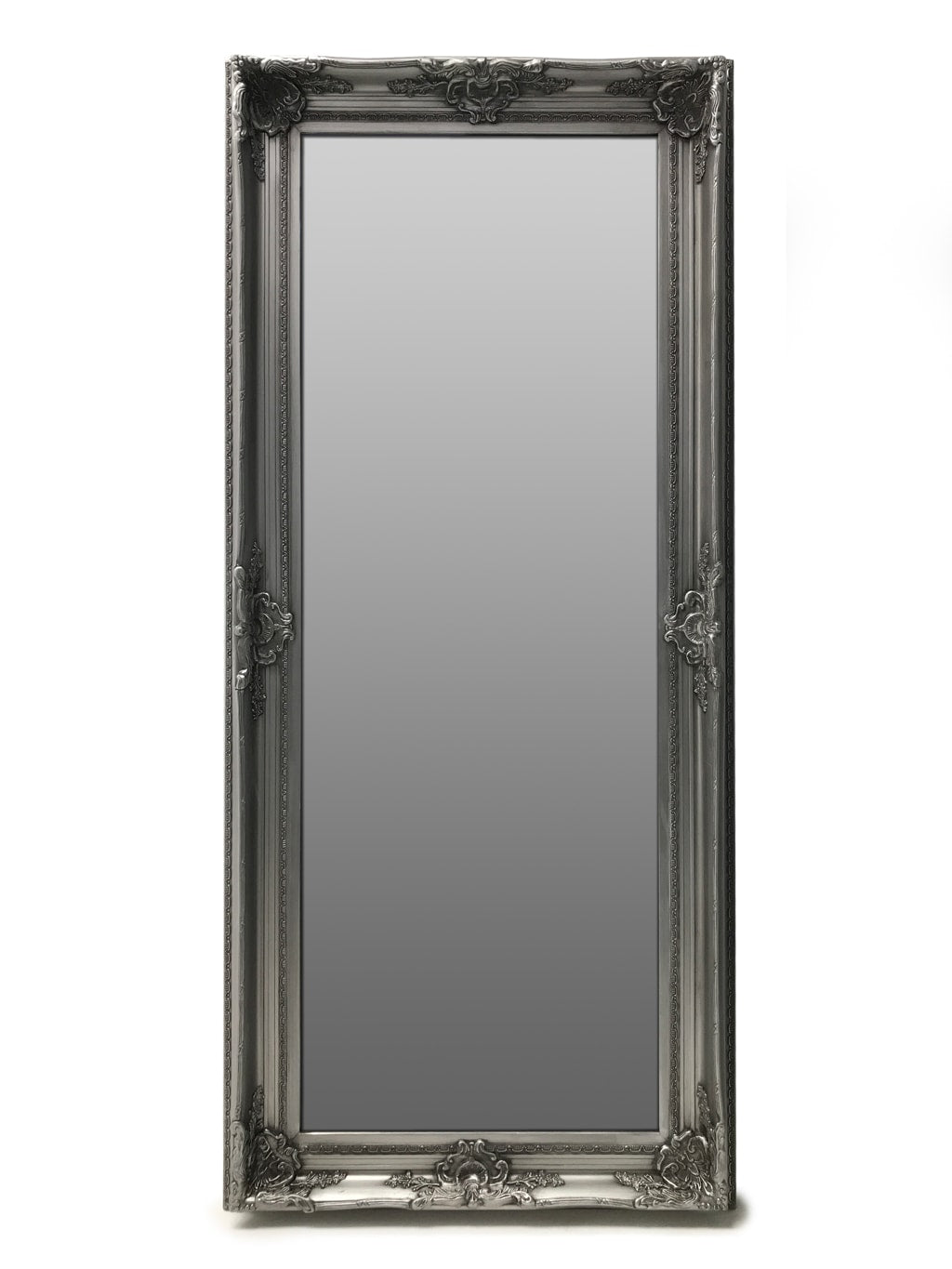 Swept Frame Mirror Silver with Bevelled Glass
