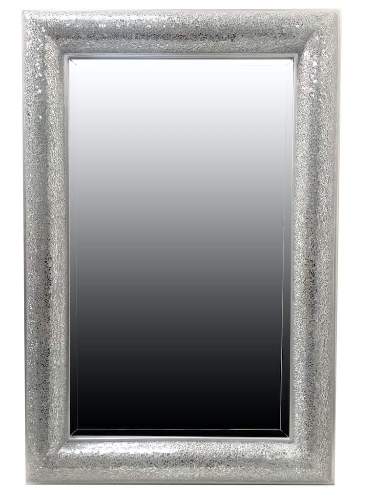 Mosaic Mirror in Silver Finish