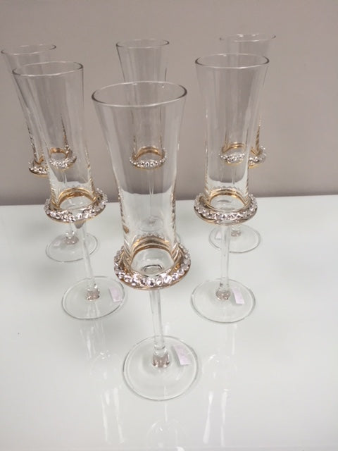 Diamante Flutes - Champagne Glass